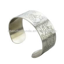 Tigre chat gravé motif bracelets bracelets classiques mode traditionnel Chine bracelet bracelet bijoux fabricant