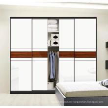 Современный стиль 2 раздвижные двери Деревянный шкаф (на заказ)