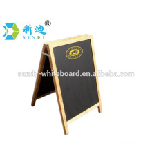 Wooden decorative blackboard with stand