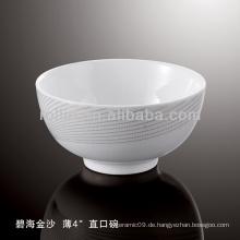 Gesundes haltbares weißes Porzellan-Ofen sicheres graues Blumen-Geschirr