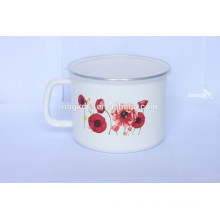 3pcs enamel milk pot set with PP lid
