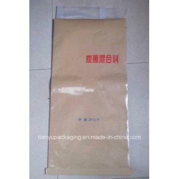 Moistureproof Sewn Bottom Kraft Paper Bag for Carbon Black Mixture