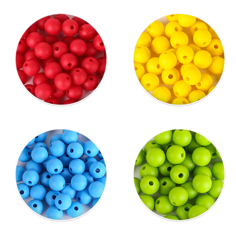 10m round silicone beads