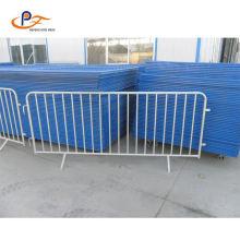 Powder Coated Black Steel Highway Guardrail Crowd Control Barrier