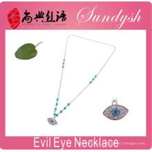 Colares de prata de significado do olho mau sorte artesanal jóias olho mal