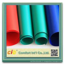 Housse ignifuge à haute résistance en polyester revêtue de PVC