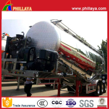 Light Vehicle Aluminum Alloy Tank Cement Bulker Tanker Semi Trailer