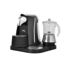 Punkt-Espressomaschine mit Milchschäumer Glas