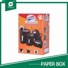 Caixa de embalagem de mala de papelão impressa