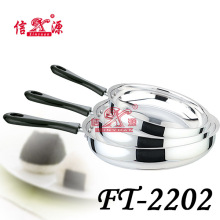 Stainless Steel Separable 3 PCS / Set Flat Frying Pan (FT-2202)