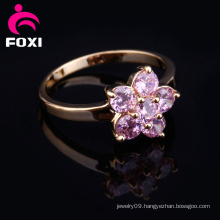 Flower Design Fancy Gold Finger Ring