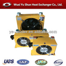 Alto rendimiento y enfriador de aceite de aluminio personalizado con ventilador de 12dc