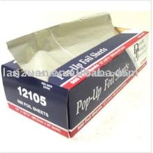 Pop-up foil sheet