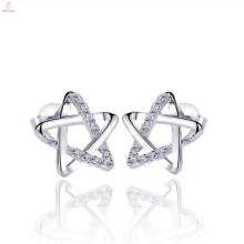 925 Sterling Silver Big Star Earrings Stud Jewelry