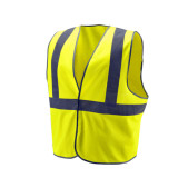 Fluorescent Yellow Security Vest with Reflective Tape