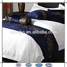 Luxo elegante atacado barato 100% poliéster Hotel Cama King Size Scarves