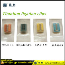 Laparoscopic Disposable Titanium Clips Lt 400 Lt300 Lt 200 Lt100