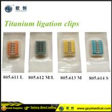 Laparoscopic Disposable Titanium Clips Lt 400 Lt300 Lt 200 Lt100