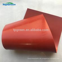 Billiges rotes weißes Silikonblatt, das in den Gummiblättern dünn ist