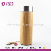 Caneca térmica de bambu natural inoxidável interna feita sob encomenda livre de BPA Thermos