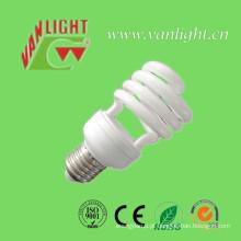 24W T4 meia espiral CFL lâmpada de poupança de energia