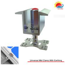 Novo design de alumínio anodizado Universal MID Clamp para montagem Solar (300-0002)
