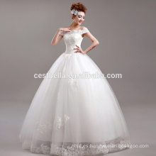 vestido de novia de encaje blanco vestido de novia Venta al por mayor de hombro vestido de novia de boda baratos
