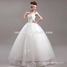 белые кружева бальное платье свадебное платье оптом с плеча милая дешевые свадебное платье