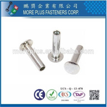 Taiwan Stainless Steel Tubular Rivet Hollow Tubular Rivets Din 7340 Tubular Rivets