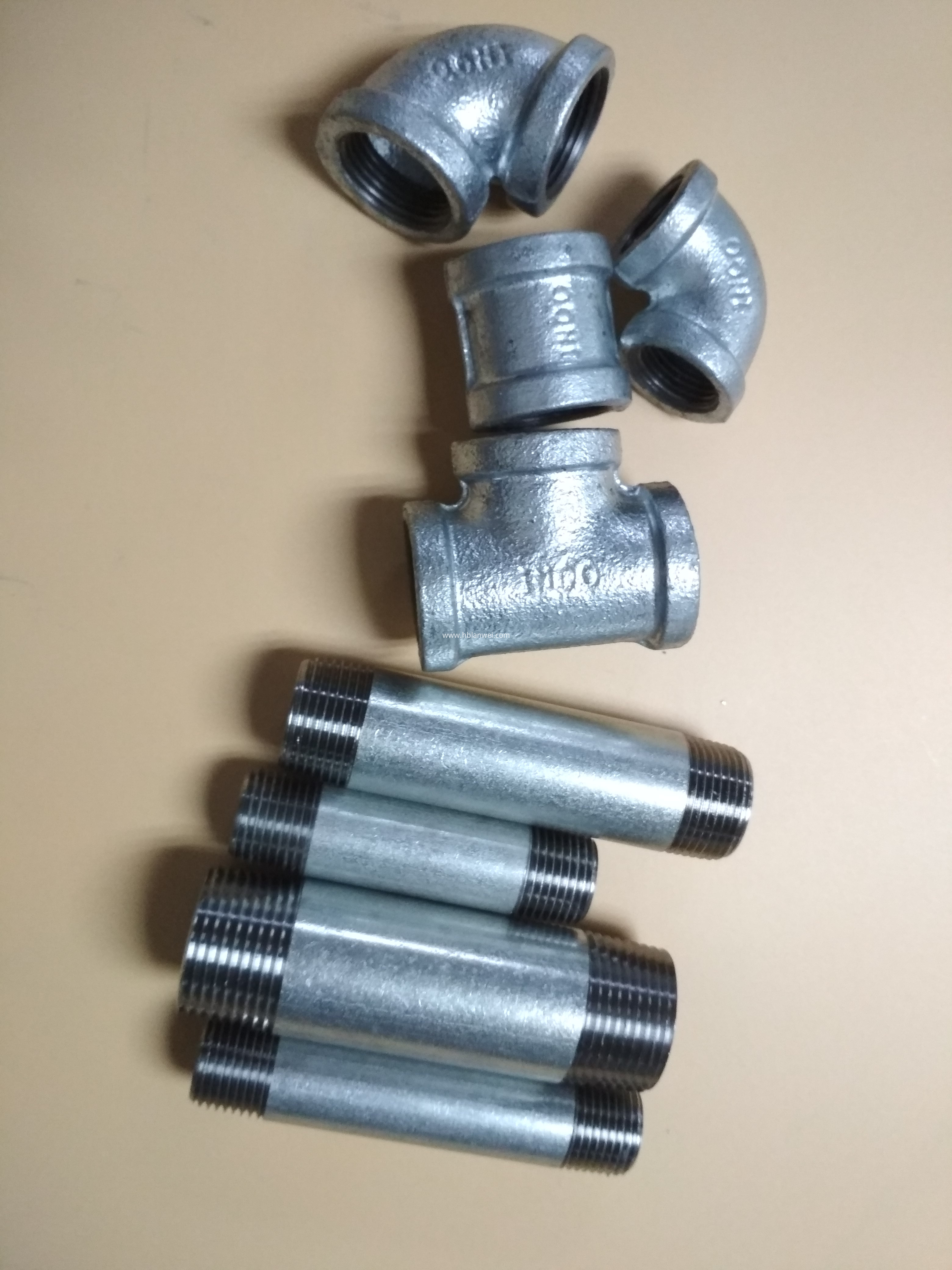 malleable iron pipe fittings nipple