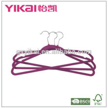 2015 Set of 10 plastic hangers for shirt pants dress flocking