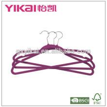 2015 Set of 10 plastic hangers for shirt pants dress flocking