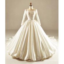 Langes Hülsen-Hochzeits-Kleid 2017