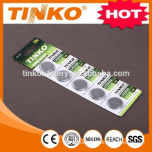 Lithium Manganese Button cell battery CR2032/CR2025/CR2016
