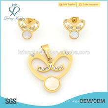 Jewelry sets manufacturer gold lockets & earrings stainless steel jewelry sets for women