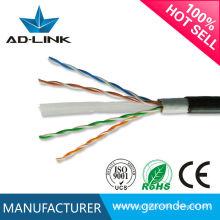 Cable al aire libre al aire libre de la prueba del agua al agua Cat 6 305m / caja 23AWG