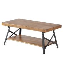 Muebles de última mesa de centro de café gris diseño de madera