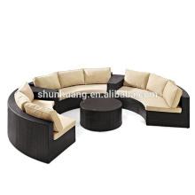 Popular outdoor furniture wicker rattan sofa set for patio