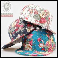 new tide the big flower flat brim 6-Panel snapback hat&cap