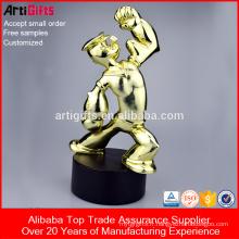Trophée de bodybuilding en métal de produits promotionnels en gros