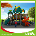 Children Outdoor Plastic Playground Equipment with Spiral Slides, Plastic Slides Type Outdoor Playground Equipment
