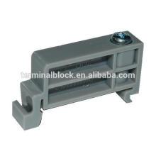 TE-002 Negro / Gris Color 35mm Soporte de horquilla Clamp Din Rail Stopper