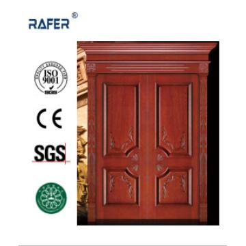 Экстерьер Виллар деревянные двери/двустворчатые двери из натурального дерева (РА-N050)