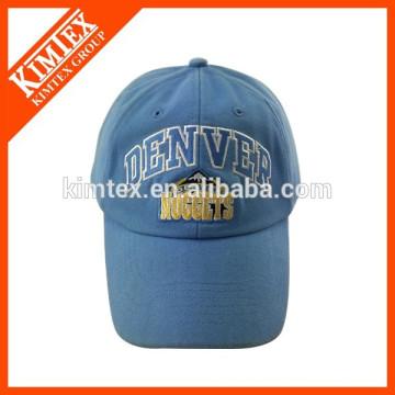 Stickerei Muster Stil blau benutzerdefinierte gekrümmte Baseballmütze