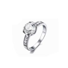 Les dernières conceptions d'anneau de mariage, anneau en cristal de mode, anneau de mariage découpé par laser