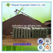 4-10mm médias filtrants Ceramsite fonderie sable