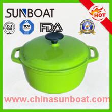 Soupière d'émail adaptée aux besoins du client d'approvisionnement d'usine / pot de pot / potage de soupe