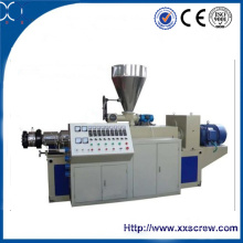 Conical Twin Screw Plastic Pipe Extrusion Machine