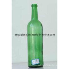 Botellas de cristal del vino de la tapa del corcho de la etiqueta de la antigüedad del OEM / de la uva