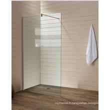 Verre clair en verre trempé Écrans de baignoire simples (T1)